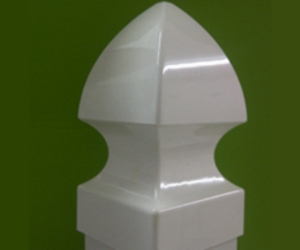 Gothic Type post Cap for PVC fence posts