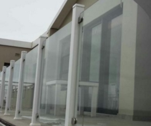 PVC Balustrade Posts with SABS Glass Infills