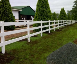 PVC Fencing Equine Post Rail Paddock Fence