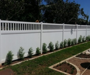 PVC Semi-Private Fence